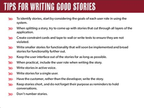 tips for writing an effective effective user stories