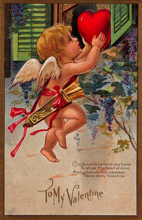 cupids delivery  vintage valentine greeting
