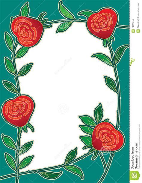 rose flower frame cardeps royalty  stock images