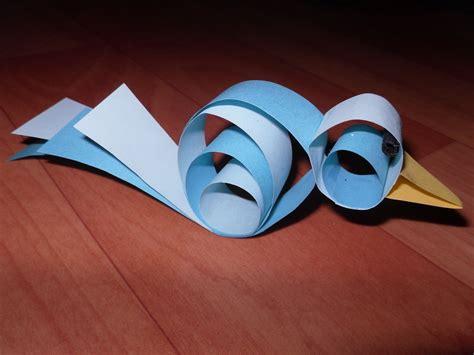 curly circle bird   fold  origami bird paper