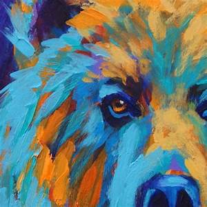 Abstract bear painting | Oils | Pinterest | Bears ...