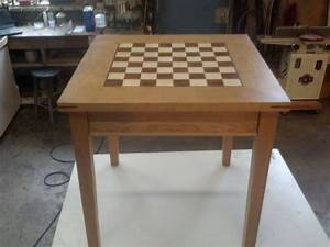 Hand Crafted Cherry Chess Table by Puddle Town Woodworking