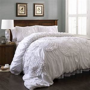 how, beautiful, bedding, with, white, impression