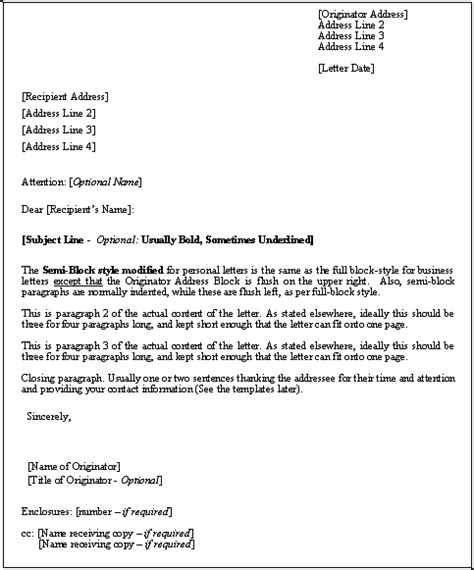 business letter format formal  professional