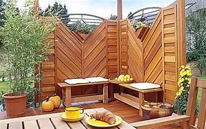 sichtschutz selber bauen selbstde With terrasse sichtschutz selber bauen