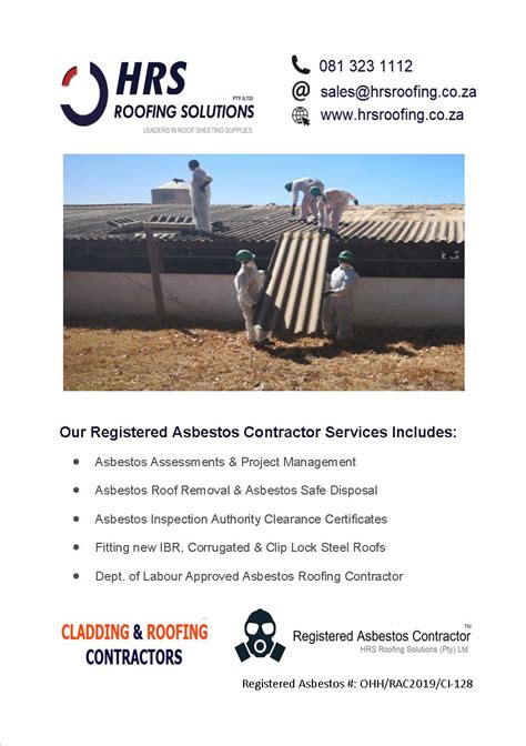 asbestos roof removal cape town asbestos removal paarl