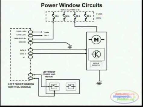 power window wiring diagram  youtube