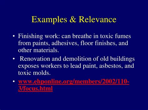 renovation dust sheet dust ppt material safety data sheets msds powerpoint
