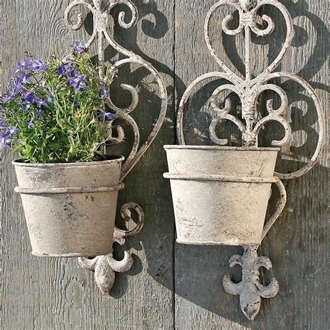 wall mount flower pots grey xx metal balcony plant holder ebay