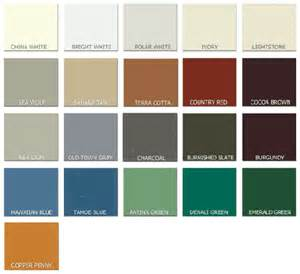 Metal Roofing Siding Color Chart