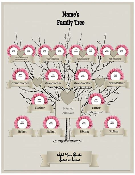 Tree Trunk And Roots Template by 25 Best Ideas About Family Tree Templates On Pinterest