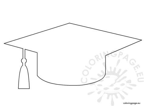 graduation cap template coloring page