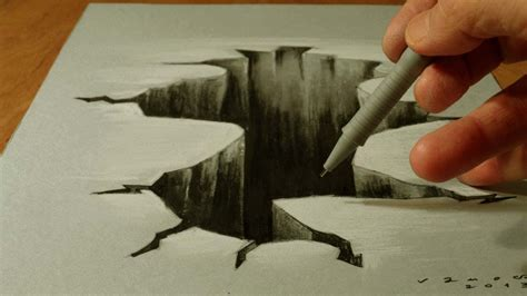 trick art  paper drawing  hole youtube