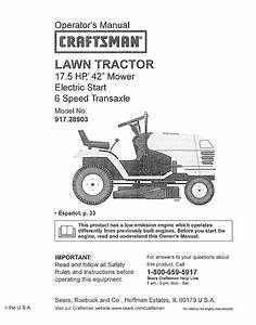 Craftsman Lawn Mower Lts 1500 User Guide