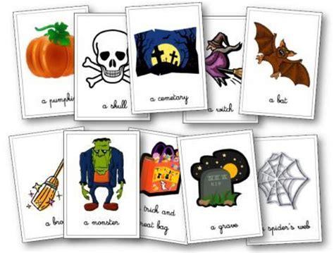 Halloween En Anglais Matériel Pour Les Cycles 1, 2 Et 3flashcards  Carte Mémoire Et Halloween