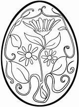 Easter Coloring Egg Printable Getcolorings sketch template