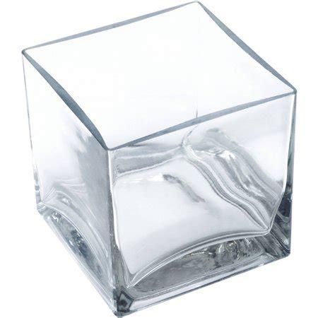 Square Vases by Lerman D 233 Cor Glass 5 Quot Clear Square Vase 1 Each Walmart