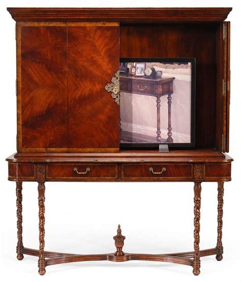 mahogany tv cabinet with doors tall mahogany tv unit with 4 paneled doors
