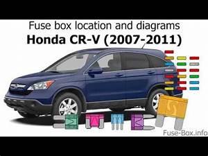 Fuse Box Location And Diagrams  Honda Cr