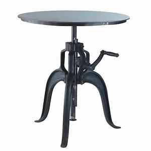Table A Manger 4 Personne : table manger ronde indus en m tal noir 4 personnes d75 ~ Teatrodelosmanantiales.com Idées de Décoration