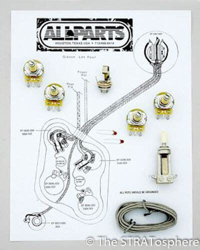 Le Paul 3 Up Guitar Wiring Diagram by New Les Paul Pots Switch Wiring Kit For Gibson Guitar