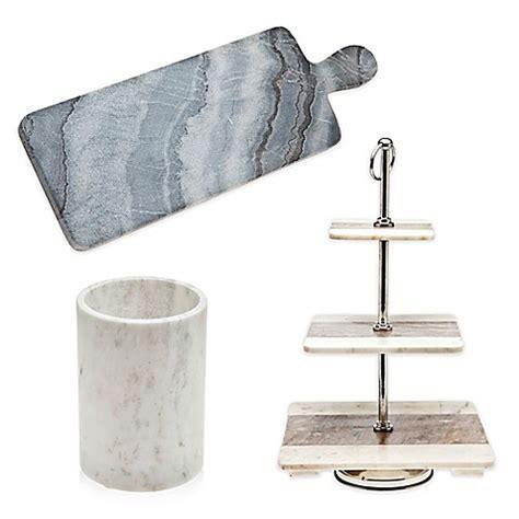 marble kitchen accessories godinger marble kitchen accessories collection bed bath 4006