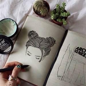 grunge, tumblr, drawing, lush bomb, pale, indie, plants ...