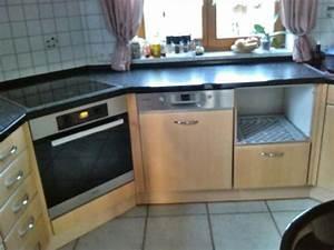 Arbeitsplatte Küche Schwarz : einbauk che front birke arbeitsplatte acryl schwarz in dachau k chenzeilen anbauk chen ~ Markanthonyermac.com Haus und Dekorationen