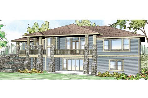 House Style : Prairie Style House Plans-northshire-associated