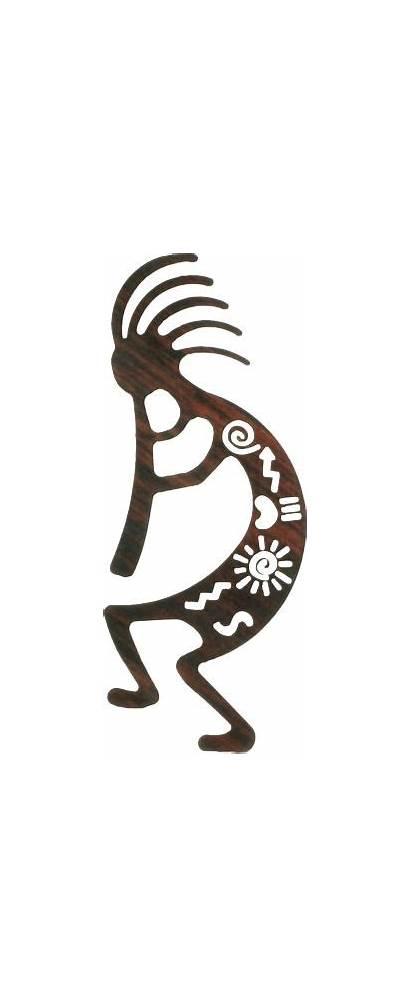 Kokopelli Wall Southwest Tattoo Metal Native Indian