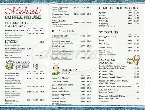 7,000+ vectors, stock photos & psd files. Michael's Coffee House Menu - Lake Forest - Dineries