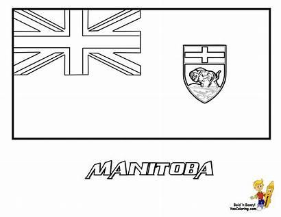 Flag Coloring Ontario Canada Manitoba Alberta Printables