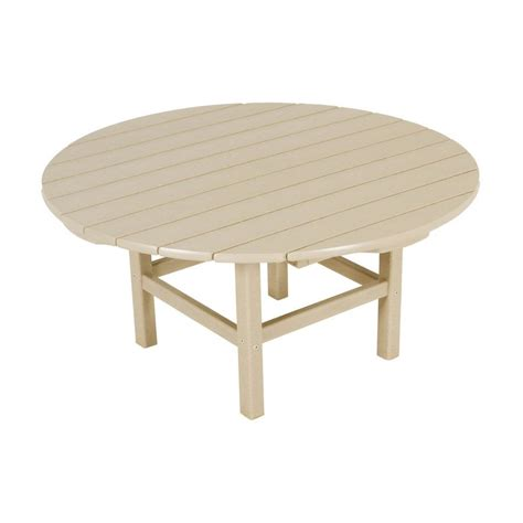 round plastic coffee table shop polywood 38 in w x 38 in l round plastic coffee table