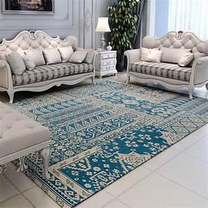 tapis salon table basse chambre de chevet rectangulaire With tapis salon lavable machine