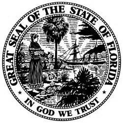Florida State Seal Black and White