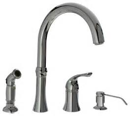 4 kitchen faucets chrome four kitchen faucet traditional kitchen faucets by mr direct sinks and faucets