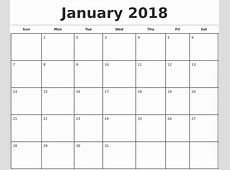 Printable Monthly Calendar 2018 onlyagame