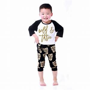 Aliexpress.com  Buy Gold Print Kids Clothes Boys Clothes Baby Boy Outfit Cool Black Gold ...