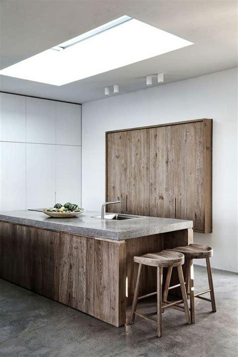 ilot cuisine bois la cuisine équipée avec îlot central 66 idées en photos