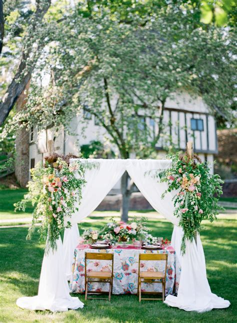 colorful garden wedding inspiration elizabeth anne