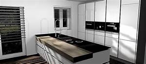 Küche Mit Granitarbeitsplatte : nobilia musterk che grifflose hochglanz k che mit bora kochfeld und miele ger ten ~ Sanjose-hotels-ca.com Haus und Dekorationen