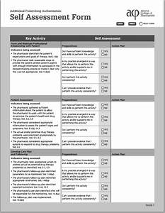 Ms Word Self Assessment Form Template