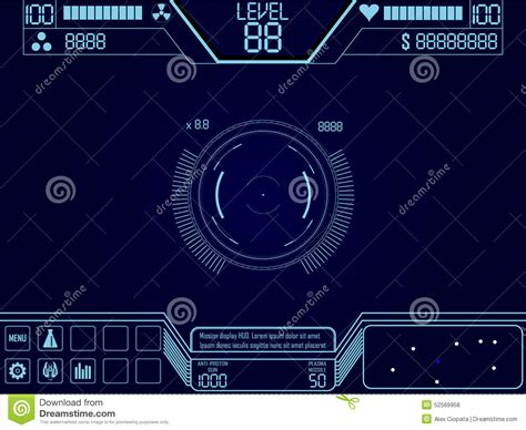 Space Shooter Game Ui Stock Vector