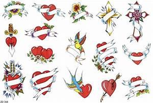 Banner heart bird tattoo designs - Tattoos Book - 65.000 ...