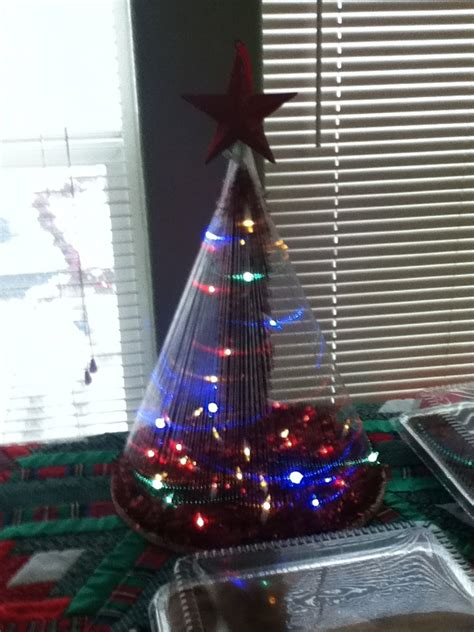 christmas tree from fishing line tutorial pin by jeanette thompson on