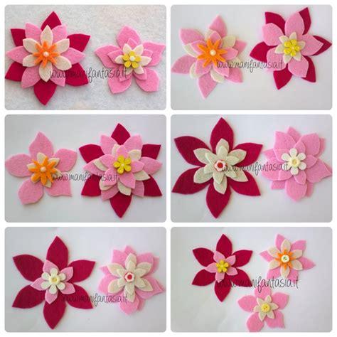 come creare fiori feltro fiori di feltro 10 facili tutorial senza cucire manifantasia