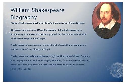 download william shakespeare biography