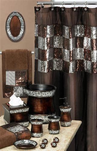 Elite Copper Shower Curtain w/ Sequins | Decor, Shower