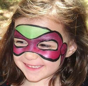 Ninja Turtle Mask | Great Face Painting Designs | Pinterest