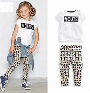 2015 NEW ARRIVAL baby girl kids 2 7T 2piece sets outfits Cute tops shirt vest tanks + zoo animal ...